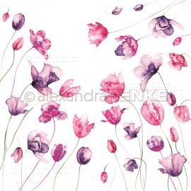 ALEXANDRA RENKE - FLOWER PAPER : VIOLET PINK TULIPS