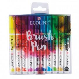 Ecoline Brush Pen set x10
