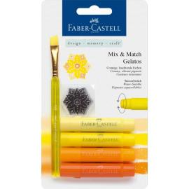 Mix & Match Gelatos & Clear Stamp Set Yellow