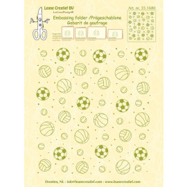 Embossing folder background Sport 14.4x16cm