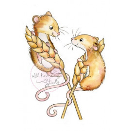 HARVEST MICE  A7 stamp set