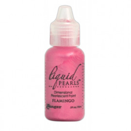 Liquid pearls flamingo