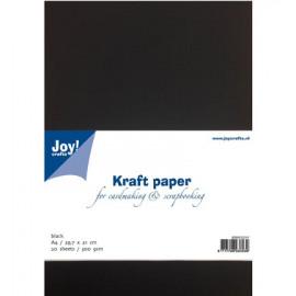 Kraft papier zwart