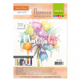 Aquarelpapier smooth 200g A4 12pcs