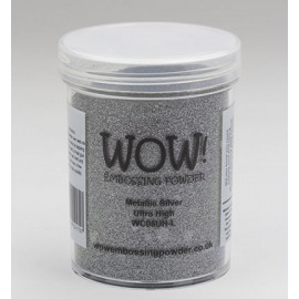 Embossing powder metallic silver Ultra High