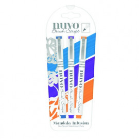 Nuvo Brush Script pen pack Mandala infusion