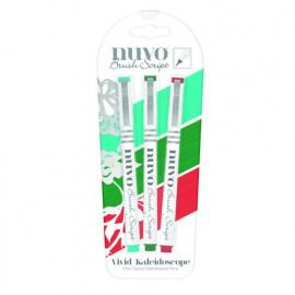 Nuvo Brush Script pen pack vivid kaleidoscope
