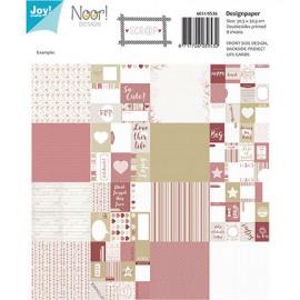 Design paper scrap 'Love this life'