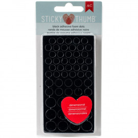 Sticky thumbs - black adhesive foam dots