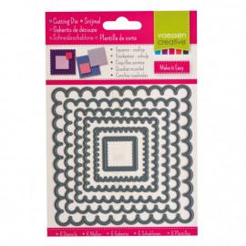 Vaessen Creative snijmal vierkanten schulp x6