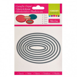 Vaessen Creative snijmal ovalen x7
