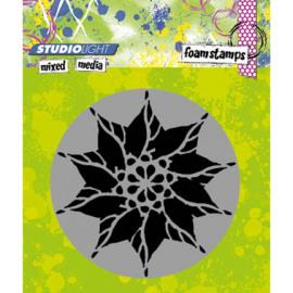 Foam stamp mixed media 01