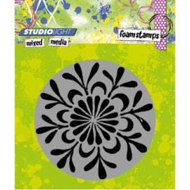 Foam stamp mixed media 02