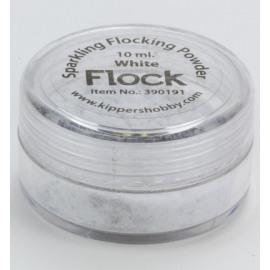 Sparkling flocking powder White 10 ml.