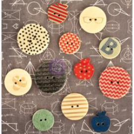Wood buttons - school memories