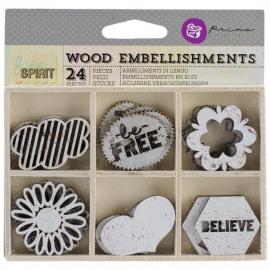 Free spirit - wood embellishments
