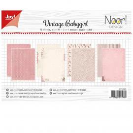 JOY papierset A4 12 vel vintage babygirl