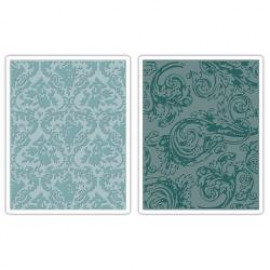 Alterations - Embossing folder - Damask & regal flourishes set