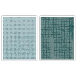 Alterations - Embossing folder - Dot matrix & gridlock set
