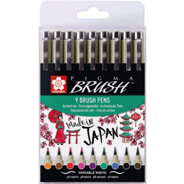 PIGMA BRUSH PENS 9 PC -