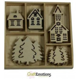 ORNAMENT HOUT CHRISTMAS  25ST