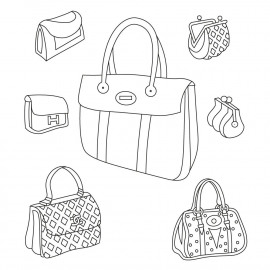 Handbags  & Purses mask unmounted clear stamp set