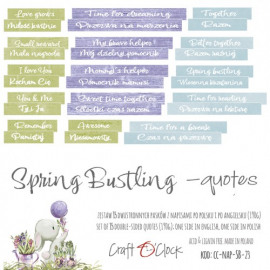 SPRING BUSTLING - DIE - CUTS QUOTES