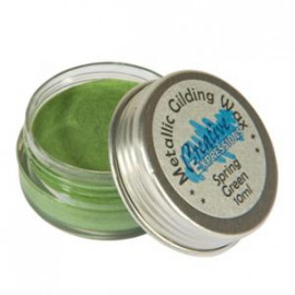 metallic gilding wax spring green