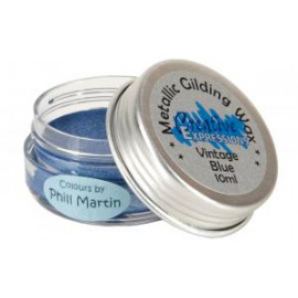 Metallic gilding wax vintage blue