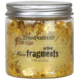 Mica fragments yellow