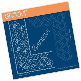 GEORGE LACE FRAME CORNER DUET  A5 SQUARE