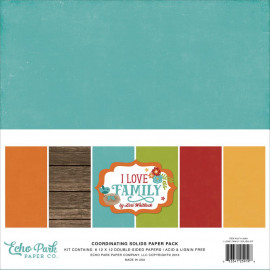 I love family Solids paper pack