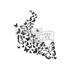 MINI ROSE TRAIL BUTTERFLY - 6X6 STENCIL