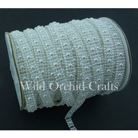 FLAT BACK WHITE PEARL STRING - ?