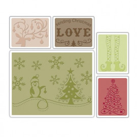 Embossing Folders - Sending Christmas Love Set