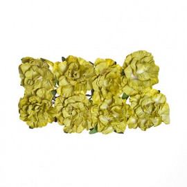 Paper flowers clove green