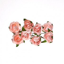 Paper flowers Rose light pink