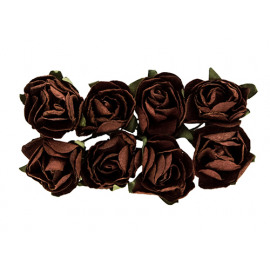 Paper flowers rose brown