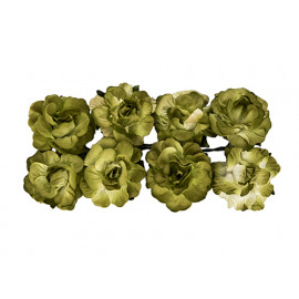 Paper flowers Curly rose green