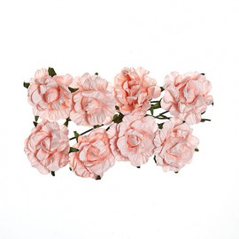 Paper flowers Curly rose Light pink