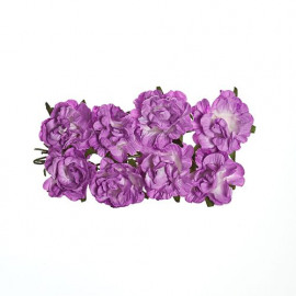 Paper flowers curly rose lilac
