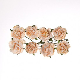 paper flowers Curly rose peach