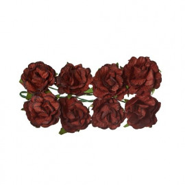 Paper Flowers Curly rose Brown