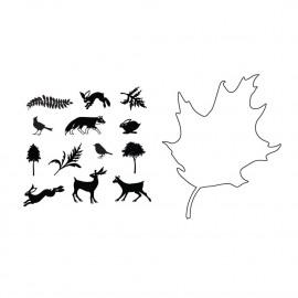 Leaf outline stamp set