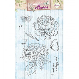 Clear stamps - Beautiful flowers 143