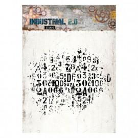 clear stamp 14x14cm Industrial 2.0 nr.250