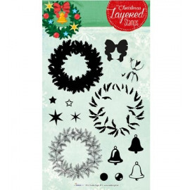 Clear stamps - Christmas layered stamps 12