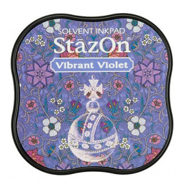 StazOn Vibrant Violet Midi Solvent Ink Pad