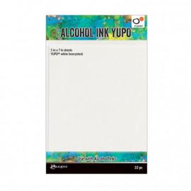 Yupo papier alcohol ink wit, 12x17cm