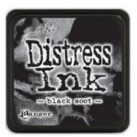 Mini Distress Ink Pad Black Soot